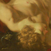 Thumbnail and detail of Adonis Mort, c. 1620 by Laurent de La Hyre (1606-1656). Photograph of Adonis Mort by Gautier Poupeau, 2011. Shows: Head and nude upper torso of muscular young man.