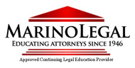 Logo for Marino Legal, attorney education firm.