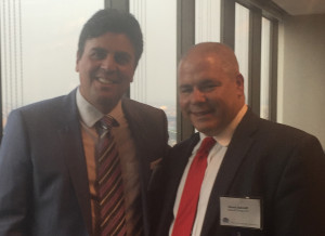 "Richard Klass, Esq. (L) with David Sarnoff, Esq. at June 2015 CLE ""The Do's and Don'ts of Finding and Hiring an Associate"" at the New York State Bar Association."
