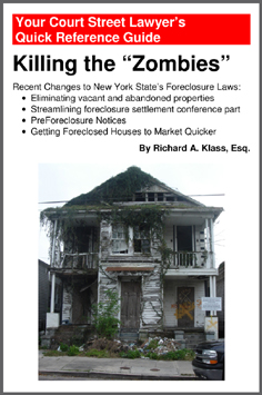 """Cover of Book """" Killing the """"Zombies"""": Recent Changes to New York State's Foreclosure Laws """" by Richard A. Klass, Esq. Shows house at 3428 Dryades Street, New Orleans in state of advanced decay, illustrating article or book about New York State foreclosure laws. Photo by anthonyturducken."""