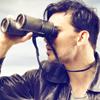Man looking through binoculars, illustrating an article about attorney illness by Richard Klass
